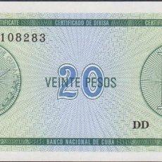 Billetes extranjeros - BILLETES - CUBA - 20 PESOS (CERTIFICADO DE DIVISA) N/D. - PICK-NO (SC) - 147846726