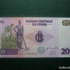 Billetes extranjeros: CONGO - 200 FRANCOS 30-06-2000 SC. Lote 147861974