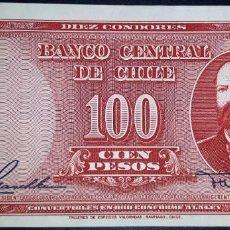 Billetes extranjeros: CHILE 100 PESOS (1947-1958). PICK 114. SC-. Lote 147875186