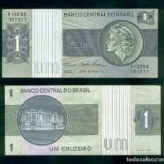 Billetes extranjeros: BRASIL : 1 CRUZEIRO. ND 1975. SC.UNC. PK.# 191 A,B FIRMA 18. Lote 147948170