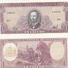 Billetes extranjeros - L137 BILLETE CHILE 1 ESCUDO 1964 SIN CIRCULAR UNC - 148016718