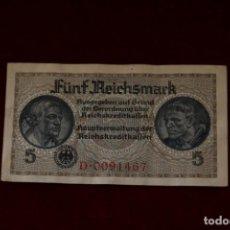 Billetes extranjeros: 5 REICHSMARK 1940-1945 ALEMANIA. Lote 148024122