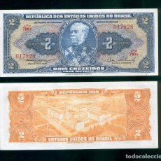 Billetes extranjeros: BRASIL : 2 CRUZEIROS. ND 1954/58. SC.UNC. PK.# 151 A FIRMA 2 SERIE 790A. Lote 148229978