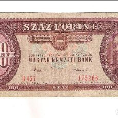 Billetes extranjeros: BILLETE DE 100 FORINT (FLORINES) DE HUNGRIA DE 1984. BC. CATÁLOGO WORLD PAPER MONEY-171G. (BE456). Lote 148335974