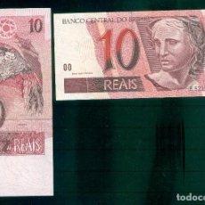Billetes extranjeros: BRASIL : 10 REAIS 1997-. SC.UNC PK. # 245A. PREFIJO E-C. Lote 195532645