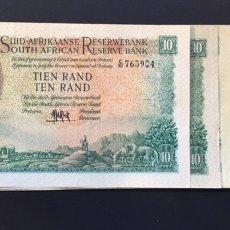 Billetes extranjeros: SOUTH ÁFRICA RESERVE 10 RAND 1961 MUY RARO REF 742. Lote 154551585