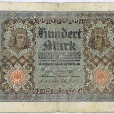 Billetes extranjeros: BILLETE ALEMANIA. 100 MARCOS. 1920. Lote 148659526