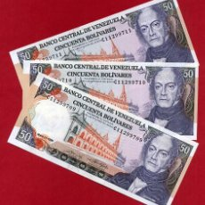 Billetes extranjeros: 1 BILLETE VENEZUELA , 50 BOLIVARES 1990 , SIN CIRCULAR PLANCHA , ORIGINAL . Lote 152394346