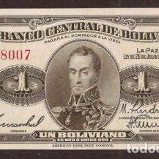 Billetes extranjeros: BOLIVIA. 1 BOLIVIANO L.1928.. Lote 148852320