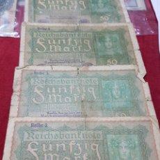 Billetes extranjeros: COLECCIÓN BILLETES ALEMANES ANTERIORES AL III REICH. Lote 149403269