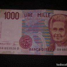 Billetes extranjeros: 1000 LIRAS ITALIA 1990. Lote 149869742