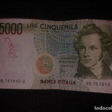 Billetes extranjeros: 5000 LIRAS ITALIA 1985. Lote 149870318