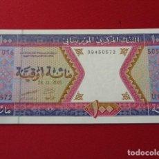 Billetes extranjeros: MAURITANIA 100 OUGUIYA 2001- SERIE U 016 - (SC). Lote 150179050