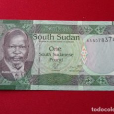Billetes extranjeros: SOUTH SUDAN 1 POUND 2011 P-5 UNC. Lote 150179310