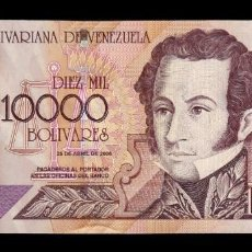 Billetes extranjeros: VENEZUELA 10000 BOLÍVARES 2006 PICK 85E SC UNC. Lote 221953941