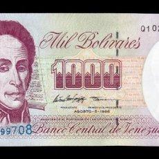 Billetes extranjeros: VENEZUELA 1000 BOLÍVARES 1998 PICK 76D SC UNC. Lote 221953932