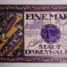 Billetes extranjeros: ALEMANIA NOTGELD/LUCKENWALDE. 1 MARK 1922. SC. . Lote 150345518