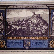 Billetes extranjeros: ALEMANIA NOTGELD/BOLKENHAIN (BOLKOW-POLONIA) 25 PFENNIG SF (1922). SC.. Lote 150604282