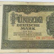 Billetes extranjeros - Billete Alemania. 50 Marcos. 1948. MBC. Muy Buena Conservación - 150625258