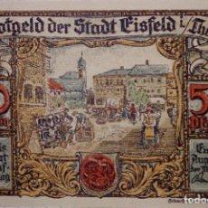 Billetes extranjeros: ALEMANIA NOTGELD/EISFELD. 50 PFENNIG 1921. SC. . Lote 150730146
