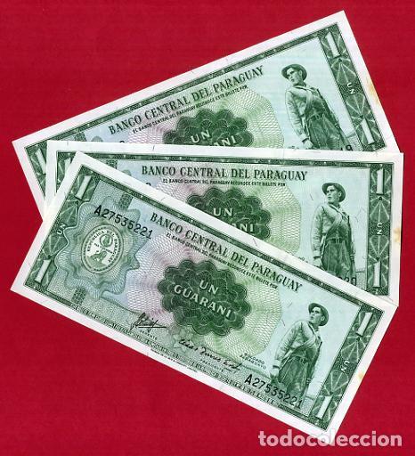 1 BILLETE URUGUAY , 1 GUARANI , SIN CIRCULAR PLANCHA , ORIGINAL (Numismática - Notafilia - Billetes Extranjeros)