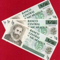Billetes extranjeros: 1 BILLETE NICARAGUA , 1/2 MEDIO 50 CENTAVOS DE CORDOBA , SIN CIRCULAR PLANCHA , ORIGINAL. Lote 152209896