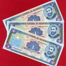 Billetes extranjeros: 1 BILLETE NICARAGUA , 1 CORDOBA SERIE A , SIN CIRCULAR PLANCHA , ORIGINAL. Lote 152209708