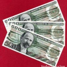 Billetes extranjeros: 1 BILLETE MEXICO MEJICO , 500 PESOS , SIN CIRCULAR , PLANCHA , ORIGINAL. Lote 152209813