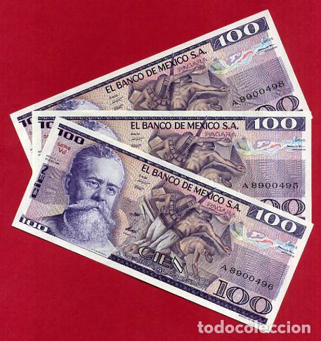 1 BILLETE MEXICO MEJICO , 100 PESOS , 1982 , SIN CIRCULAR , PLANCHA , ORIGINAL (Numismatik - Notaphilie - Internationale Banknoten)