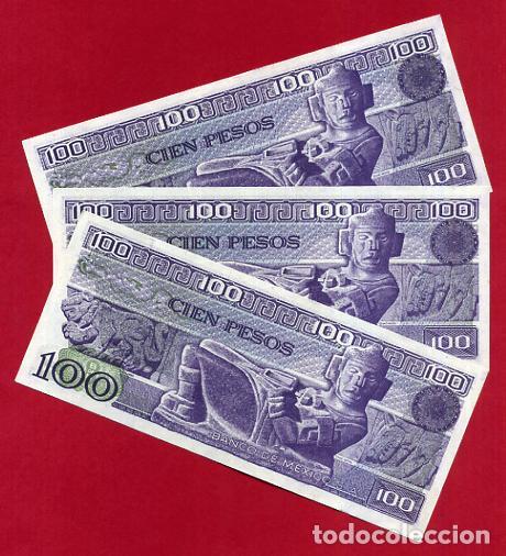 Internationale Banknoten: 1 BILLETE MEXICO MEJICO , 100 PESOS , 1982 , SIN CIRCULAR , PLANCHA , ORIGINAL - Foto 2 - 152196982