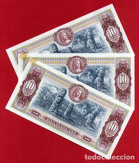 Billetes extranjeros: 1 BILLETE COLOMBIA , 10 PESOS ORO , 1980 , SIN CIRCULAR , PLANCHA , ORIGINAL - Foto 2 - 152196773