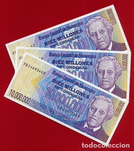 1 BILLETE NICARAGUA , 10 MILLONES 10.000.000 DE CORDOBAS , SIN CIRCULAR , PLANCHA , ORIGINAL (Numismática - Notafilia - Billetes Extranjeros)