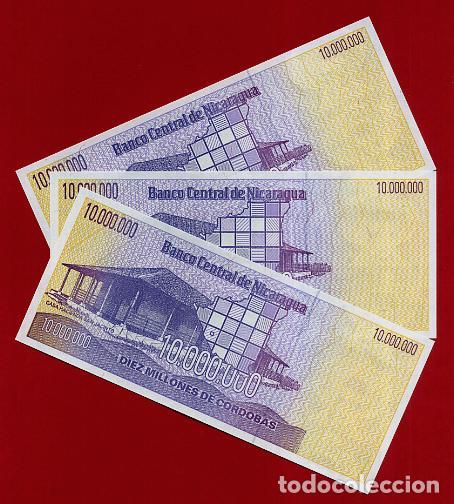 Billetes extranjeros: 1 BILLETE NICARAGUA , 10 MILLONES 10.000.000 DE CORDOBAS , SIN CIRCULAR , PLANCHA , ORIGINAL - Foto 2 - 152196072