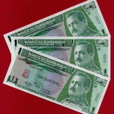 Billetes extranjeros: 1 BILLETE GUATEMALA , 1 QUETZAL , 1991 , SIN CIRCULAR , PLANCHA , ORIGINAL. Lote 150811302