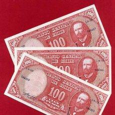 Billetes extranjeros - 1 BILLETE CHILE , 100 PESOS , SIN CIRCULAR , PLANCHA , ORIGINAL - 152194220
