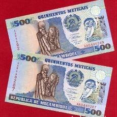 Billetes extranjeros: 1 BILLETE MOZAMBIQUE , 500 METICAIS , 1991 , SIN CIRCULAR , PLANCHA , ORIGINAL. Lote 152210178