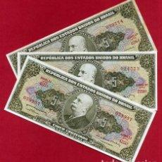 Billetes extranjeros: 1 BILLETE BRASIL , 5 CRUZEIROS , SIN CIRCULAR , PLANCHA , ORIGINAL. Lote 152192017