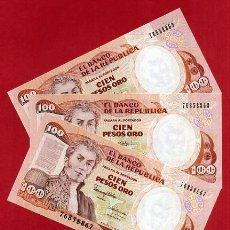 Internationale Banknoten - 1 BILLETE COLOMBIA , 100 PESOS ORO , 1990 , SIN CIRCULAR , PLANCHA , ORIGINAL - 152191772