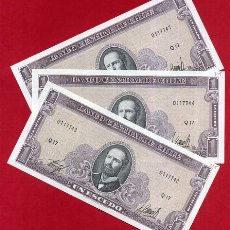 Billetes extranjeros: 1 BILLETE CHILE , 1 ESCUDO , SIN CIRCULAR , PLANCHA , ORIGINAL. Lote 152191685