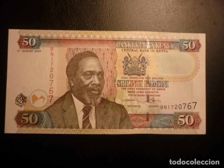 KENIA - KENYA 50 SHILLINGS 02-08-2004 EBC+ (Numismática - Notafilia - Billetes Extranjeros)