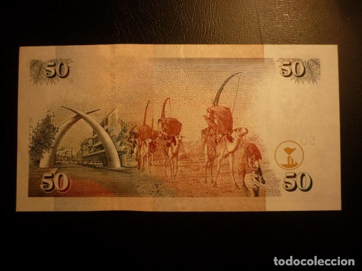 Billetes extranjeros: Kenia - Kenya 50 shillings 02-08-2004 EBC+ - Foto 2 - 150943358