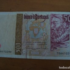 Billetes extranjeros: BILLETE PORTUGAL 500 ESCUDOS 1997. Lote 39755279