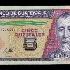 Billetes extranjeros: GUATEMALA 5 QUETZALES 2014 (2018) IMPRESO EN CHILE PICK NEW SC UNC. Lote 210628570