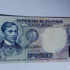 Billetes extranjeros: 1 BILLETE DE 1 PISIO DE FILIPINAS. Lote 151509942
