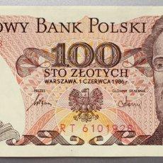 Billetes extranjeros: POLONIA. 100 ZLOTYCH. Lote 151713013