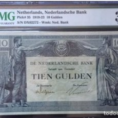 Billetes extranjeros: PMG 30 NETHERLANDS 10 GULDEN 1922 PICK 35 VERY RARE. Lote 152077476