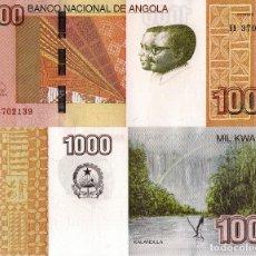Billetes extranjeros: ANGOLA 1000 KWANZAS 2017 (2012) - KALANDULA FALLS, P156, UNC NEW SIGNATURE, LOW SHIPPING FEE. Lote 194787607