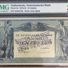 Billetes extranjeros: PMG 35 / NETHERLANDS NEDERLANOLSCHE BANK 10 GULDEN 1922 / PICK 35. Lote 152249010