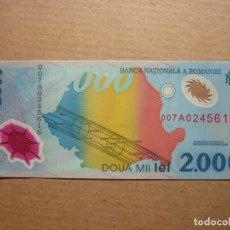 Notas Internacionais: RUMANIA, 2000 LEI 1999 S/C. Lote 152288434