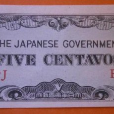 Billetes extranjeros: OCUPACION JAPONESA ¿FILIPINAS? 5 CENTAVOS. Lote 152527734